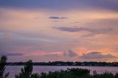 Заход солнца над рекой Myakka Стоковое Изображение RF