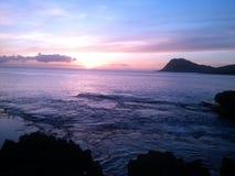 Заход солнца на рифе Стоковые Изображения RF