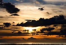 Заход солнца на Ричмонде Стоковое фото RF