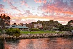 Заход солнца на северном Fremantle, западной Австралии Стоковое Изображение RF