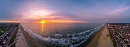 Заход солнца над Северным морем Стоковые Изображения RF