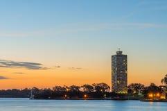 Заход солнца на Сиднее, Австралии. Стоковые Изображения