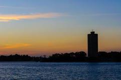 Заход солнца на Сиднее, Австралии. Стоковое фото RF