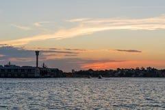 Заход солнца на Сиднее, Австралии. Стоковая Фотография RF