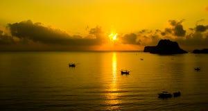 Заход солнца на Таиланде Стоковая Фотография