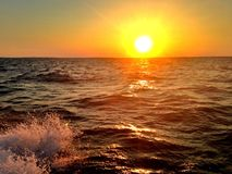 Заход солнца на треске накидки Стоковое фото RF