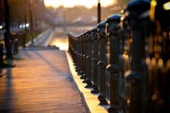 Заход солнца на улицах Бухареста Стоковые Фото