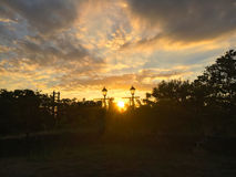 Заход солнца на форте Сантьяго Стоковое фото RF