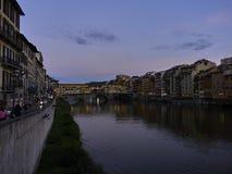 Заход солнца на Флоренсе Стоковые Фото