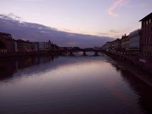 Заход солнца на Флоренсе Стоковое Изображение RF
