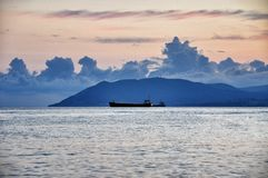 Заход солнца на Чёрном море стоковое изображение rf
