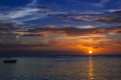 Заход солнца на этап голубя Стоковое Фото
