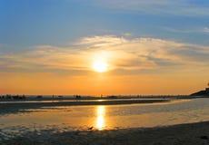 Заход солнца на юге  Индии Стоковые Фото