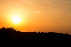 Заход солнца на дюнах Стоковое Изображение