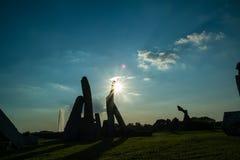 Заход солнца над Ada Стоковое фото RF
