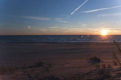 Заход солнца на Baltic Стоковое Фото