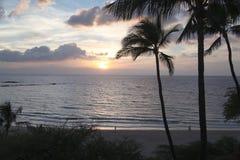 Заход солнца на beachn Стоковое Фото