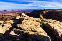 Заход солнца на Canyonlands Стоковые Изображения RF