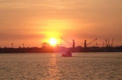 Заход солнца на Ccohin Стоковое Изображение RF