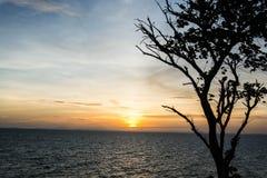 Заход солнца на Chanthaburi Стоковое фото RF