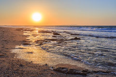 Заход солнца на Chersonisos Стоковое Фото