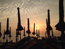 заход солнца на chonburi Стоковое Изображение RF