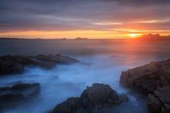 Заход солнца на Cobo Стоковые Фото