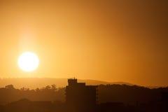 Заход солнца над Currumbin, Gold Coast, Австралией Стоковые Фотографии RF