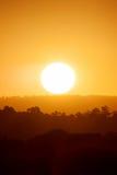Заход солнца над Currumbin, Gold Coast Стоковое Изображение RF
