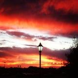Заход солнца на Gettysburg Стоковые Фото