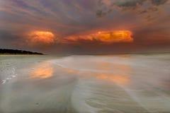 Заход солнца на Hilton Head Island Стоковые Изображения