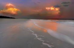Заход солнца на Hilton Head Island Стоковое Изображение RF