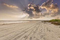 Заход солнца на Hilton Head Island Стоковое Изображение