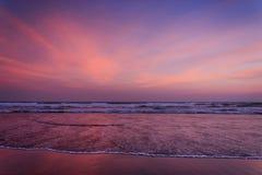 Заход солнца на jogyakarta parangtritis Стоковое Изображение RF