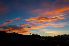 Заход солнца на Kaikoura Стоковые Фотографии RF