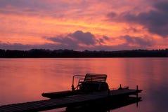 Заход солнца на Kaszuby Стоковое Изображение RF