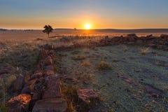 Заход солнца на klipkraal Стоковое Изображение RF