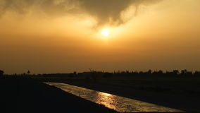 Заход солнца на marrakech Стоковые Изображения