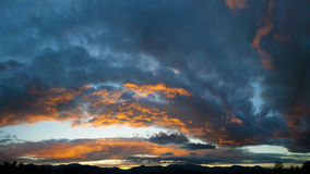 Заход солнца над Mt. Mansfield, VT, США Стоковое Изображение RF