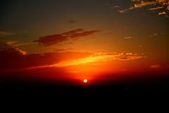 Заход солнца над Muscat, Оманом Стоковое Фото