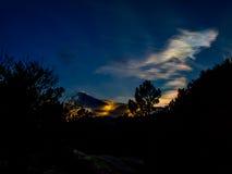 Заход солнца на Pedriza стоковое фото rf