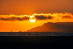Заход солнца над San Luis Obispo, Калифорнией Стоковое Изображение RF