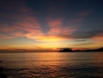 заход солнца на sattahip Стоковое Фото