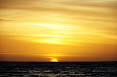 Заход солнца на seashore Стоковое Фото