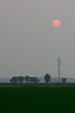 Заход солнца на Sekinchan Стоковые Фото