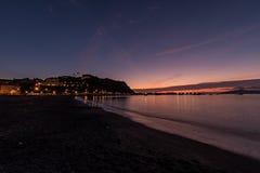 Заход солнца на Sestri Levante Стоковые Фото