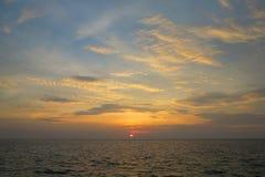 Заход солнца на Similan Стоковые Изображения