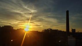 Заход солнца на St Pauli Стоковое Изображение RF
