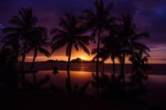 Заход солнца на Tokoriki Стоковая Фотография