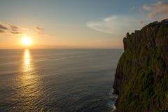 Заход солнца Uluwatu, Бали Стоковое фото RF